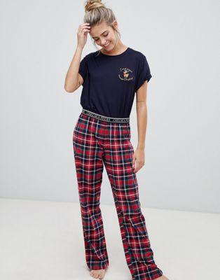 Pijama largo de cuadros Sugar de Chelsea Peers