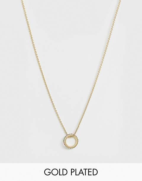 Pilgrim – Vergoldete Halskette mit rundem Anhänger