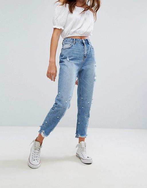 09747f517a07 Pimkie   Pimkie Embellised Mom Jeans