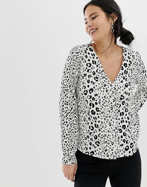 Pimkie – Langärmliges Hemd mit Leopardenmuster