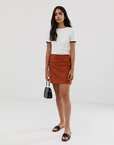 a810426f1567 Pimkie mini skirt with pocket detail in rust