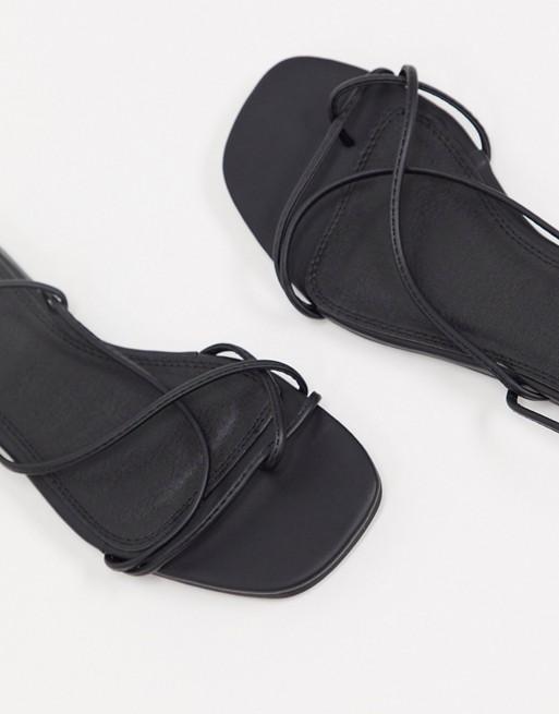 Pimkie - Sandales Plates À Brides Croisées Noir