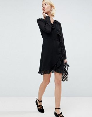 Pimkie Textured Dot Wrap Dress