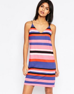 Платье-комбинация в широкую полоску ASOS ASOS