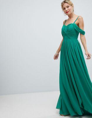Платье макси с вырезами на плечах Y.A.S