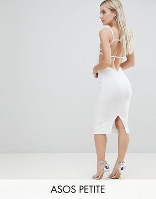 Платье миди с открытой спиной и квадратным вырезом ASOS PETITE