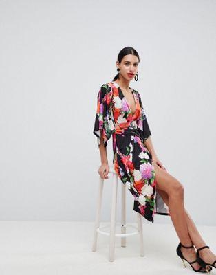 Платье миди с платочным принтом ASOS DESIGN