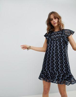 Платье мини с оборками Anna Sui