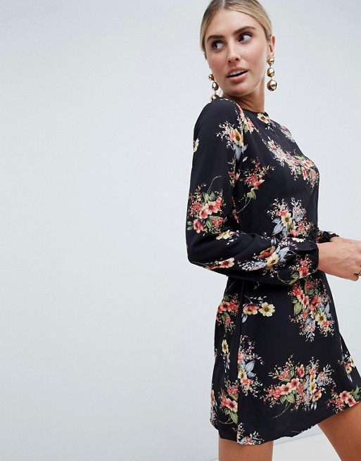 Изображение 1 из Платье с цветочным принтом и длинными рукавами AX Paris