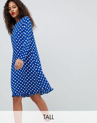 Платье в горошек Y.A.S Tall Dotti