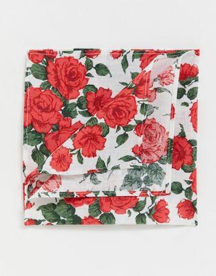 Изображение 1 из Платок для нагрудного кармана с принтом роз Gianni Feraud libery carline