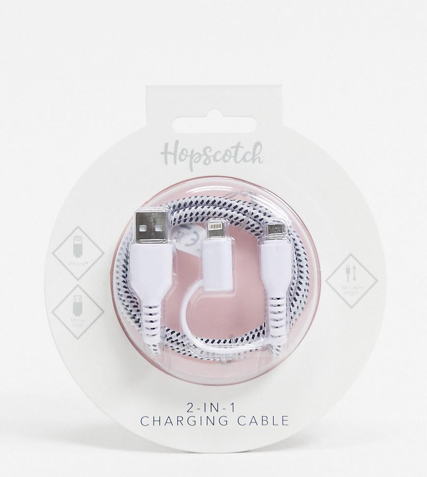 Плетеный кабель 2 в 1 длиной 1м Thumbs Up Exclusive-Бесцветный