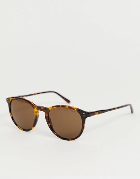 Polo Ralph Lauren – 0PH4110 – Runde Sonnenbrille in Schildpattoptik