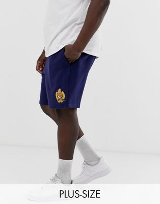 Polo Ralph Lauren Big & Tall crest logo cut off sweat shorts in navy