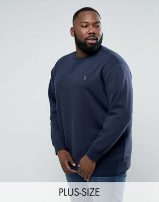 Polo Ralph Lauren Big & Tall Sweatshirt with Logo in Navy