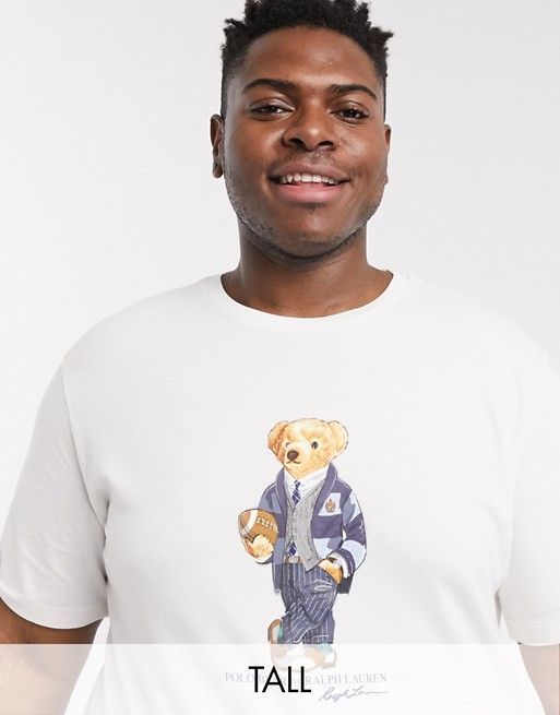 Polo Ralph Lauren Big & Tall t-shirt bear print in white
