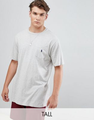 Polo Ralph Lauren Big & Tall t-shirt player logo in grey marl