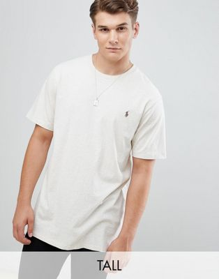 Polo Ralph Lauren Big & Tall T-Shirt Polo Player in Beige Marl