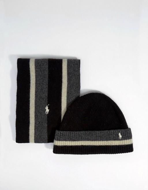 9b3ce05a8af Image 1 sur Polo Ralph Lauren - Coffret cadeau bonnet et écharpe