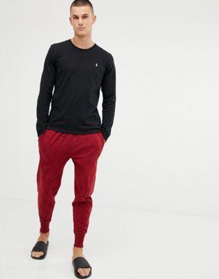 Polo Ralph Lauren - coffret cadeau survêtement avec haut manches longues et pantalon imprimé poney - Noir et rouge