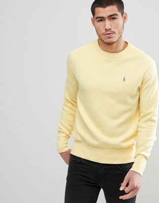 Polo Ralph Lauren Crewneck Sweatshirt Polo Player in Washed Yellow