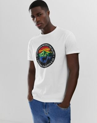 Polo Ralph Lauren Great Outdoors Circle Print T Shirt In White by Polo Ralph Lauren