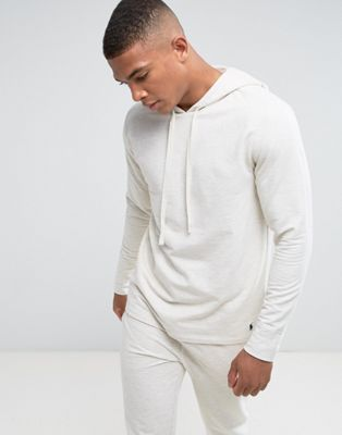 Polo Ralph Lauren Long Sleeve Hoodie Brushed Jersey in Oatmeal