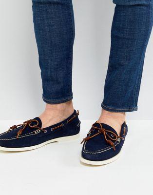 Polo Ralph Lauren - Millard - Chaussures bateau en daim à enfiler - Bleu marine