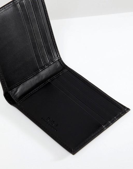 design senza tempo 85619 a2a32 Polo Ralph Lauren - Portafoglio a libro classico in pelle nera ...