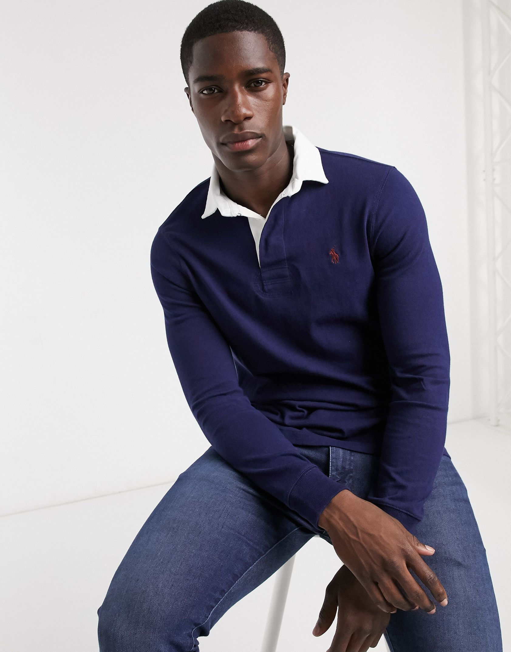 Polo Ralph Lauren rugby polo shirt in navy -  Price Checker