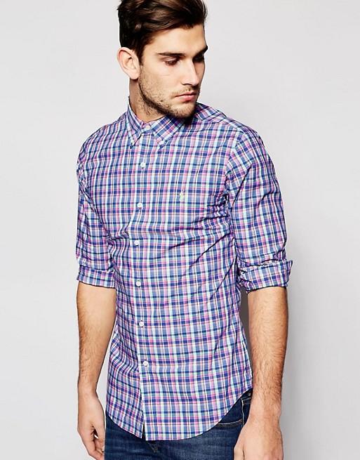 87ddcddd Image 1 of Polo Ralph Lauren Shirt in Poplin Multi Check Slim Fit