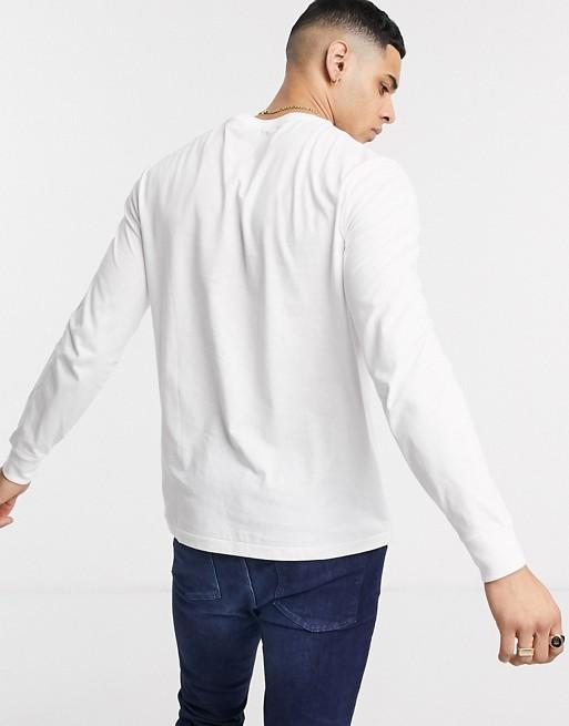 Polo Ralph Lauren soccer logo long sleeve t-shirt in white