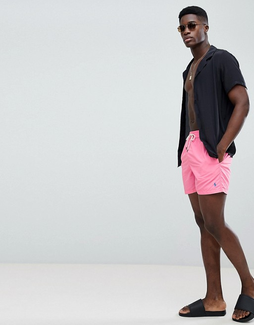 Badeshorts in Logo Polo rosa chroma Ralph Lauren Traveller Hellrosa Player mit xwH0tq