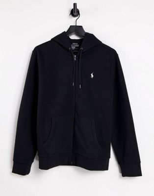 Polo Ralph Lauren Zipthru Hoodie Polo Player in Black