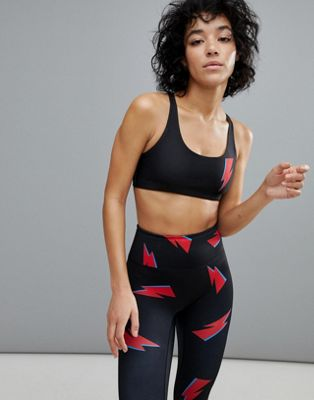Pop Active by Poprageous Bowie Lightning Bolt Aurora Bra