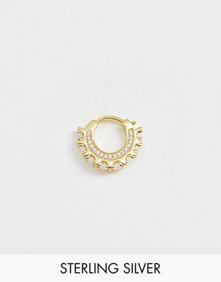 Изображение 1 из Позолоченная непарная серьга-кольцо с опалом Galleria Armadoro
