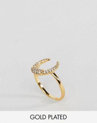 Позолоченное кольцо с полумесяцем Orelia