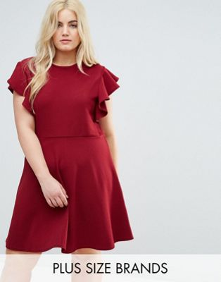 Praslin Dress with Frill Sleeves