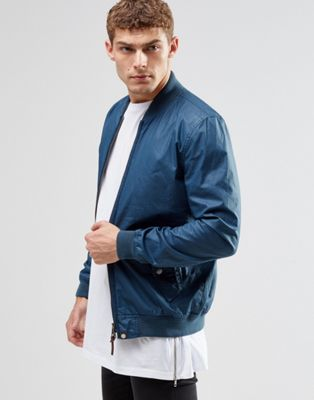 Pretty Green Bomber Jacket In Navy