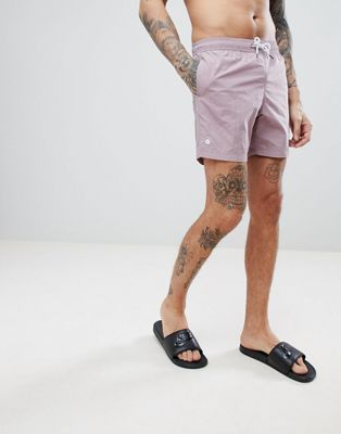 Pretty Green Logo Swim Shorts In Pink