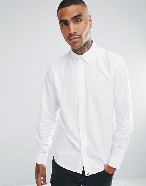 c9db9e736f27 Inicio; Pretty Green sterling oxford shirt in white. image.AlternateText