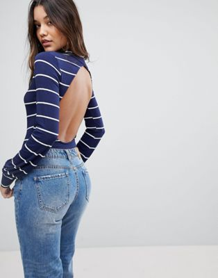 PrettyLittleThing High Neck Open Back Body