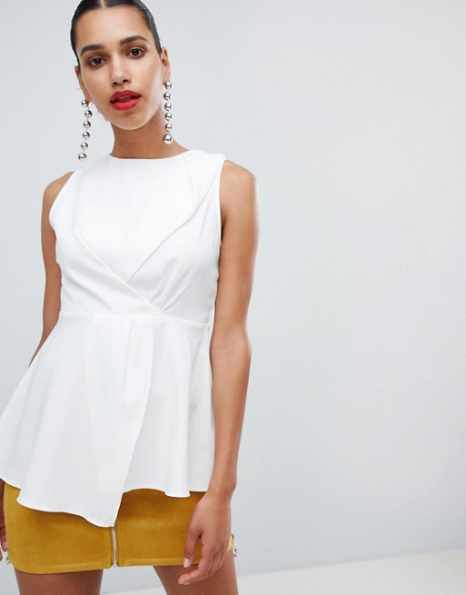 Image 1 of PrettyLittleThing High Neck Peplum Top