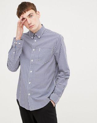 Приталенная рубашка в клеточку Ben Sherman