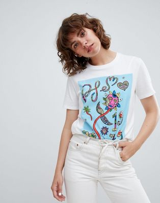 PS by Paul Smith – Buntes T-Shirt mit Grafikdesign