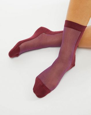 PS by Paul Smith contrast mesh sock