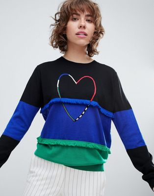 PS by Paul Smith Heart Trim Knit