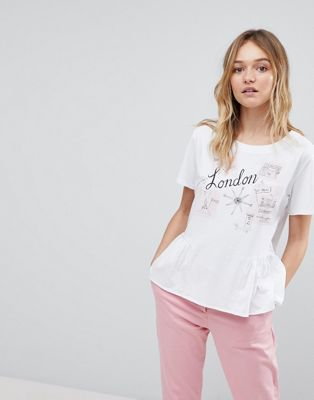PS by Paul Smith – London – T-Shirt mit Schößchen
