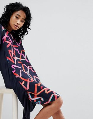 PS by Paul Smith Silk and Jersey Dress