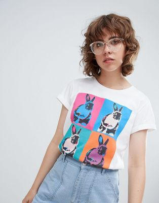 PS by Paul Smith – T-Shirt mit Hasenmotiv